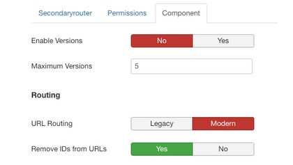 Component Creator now supports the new Joomla routing system